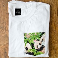 Premium White Panda Pocket — Timeless Clothing