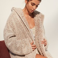 f842ed345c Pins And Needles Sherpa Furry Robe Coat- from Urban Outfitters