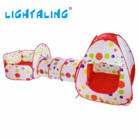 Lightaling Play House Tent Tunnel Pool-Tube-Teepee 3pcs Pop-up Baby Tents Children Kids Adventure Room Toddler Toy