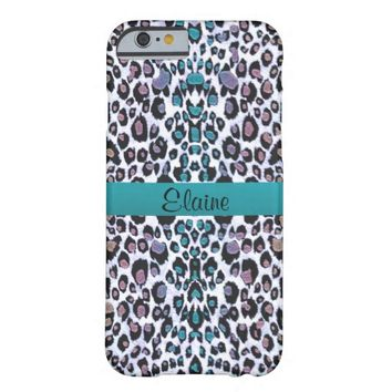 Personalized Shimmering Rainbow Leopard Print Case Barely There iPhone 6 Case