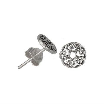 PEAPGQ9 Celtic Knots Circle - Stud Earrings