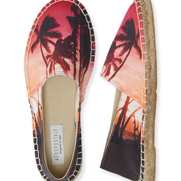 Aeropostale  Palm Tree Espadrille Slip-On Shoe