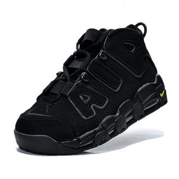 2018 New Arrival Women Nike Air More Uptempo Blacko Volt Anthracite Brand sneaker