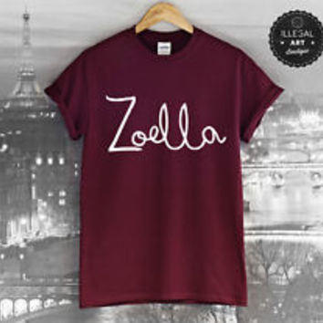 ZOELLA T SHIRT TUMBLR JUST SAY YES ZALFIE ALIFE FEMALE BAG YOUTUBE VLOGGER NEW