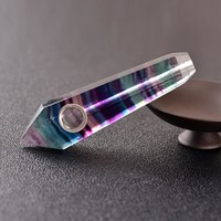 Natural Northern Lights Crystal Smoking Pipe