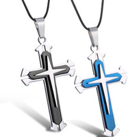 Jewelry Gift Shiny Stylish New Arrival Luxury High Quality Cross Rack Pendant Stainless Steel Men Hot Sale Accessory Necklace [6526584579]