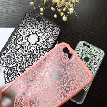 Classic Lace Mandala Flower Phone Cases For Apple iphone 6 Case For iphone6 6S Plus Cover Sexy Beautiful Datura Floral Capa NEW
