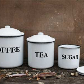 Coffee Tea Sugar Container Set