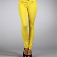Yellow Skinny Ponte Pants