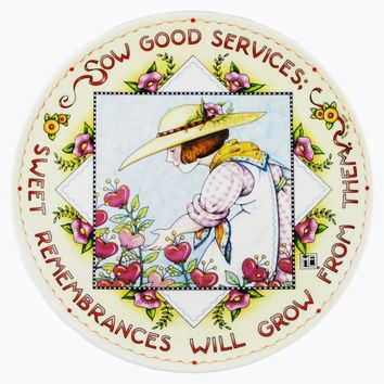 Mary Engelbreit Sow Good Services Plate-PMOSBC