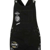 MOTO Badge Short Dungaree