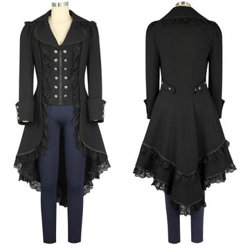 Women's Steam punk Tailcoat  Gothic Victorian Coat  - Free Shipping