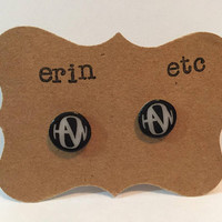 Handmade Plastic Fandom Earrings - Hanson Symbol (black)