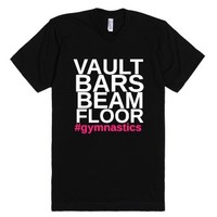 Gymnastics Is Life-Unisex Black T-Shirt