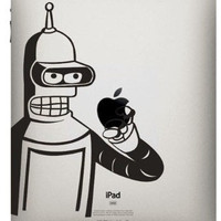 Bender -- iPad Decal iPad Sticker Art Vinyl Decal for Macbook Pro / Macbook Air / iPad 1 / iPad 2 / iPad 3/iPad 4/ iPad mini