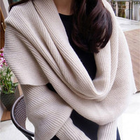 Unisex Scarf with Sleeves