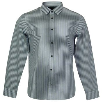 Michael Kors Men's Striped Front Button Shirt