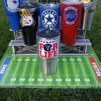"Texans ""For Life"" YETI Tumbler Decal Sticker Fits 20oz & 30oz Cups/Tumblers/Ramblers Buy 2 Get 1 Free YETI/Ozark/RTIC/iPhone 8 / Note 5"