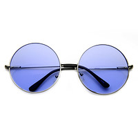 Indie Festival Hippie Oversize Round Colorful Lens Sunglasses 9580