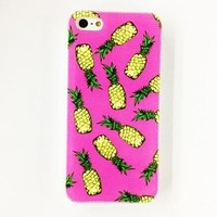 Case for Iphone - Pineapple Pattern Plastic Hard Case for iPhone 4/4S ( Color : Multicolor )