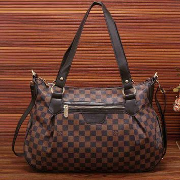 Louis Vuitton Trending Fashion Women Leather Satchel Shoulder Bag Handbag Crossbody Coffee G