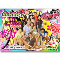 Teen Beach Movie 2 Colorful Kids Birthday Invitation Party Design