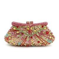 Luxury Rhinestone minaudiere box clutches for women wedding, party and prom