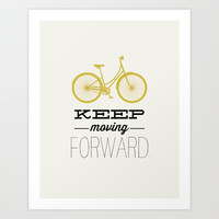 KEEP MOVING FORWARD - BICYCLE Art Print by Allyson Johnson