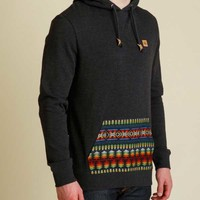 tentree Watson Long Sleeve Pullover Hoodie for Men in Black SU16-MHWAT-BLK