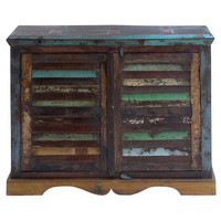 Chest with Twin Side-By-Side Doors with Wooden Stoppers