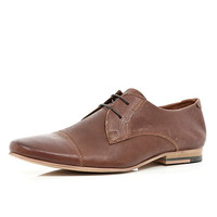 River Island MensBrown round toe lace up formal shoes