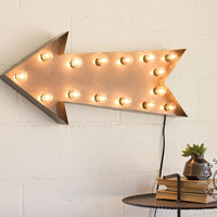 Raw Lighted Arrow Marquee