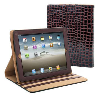 Dasein Patent Croco iPad 2 Compatible Case - Coffee