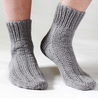 Woman Gray Socks- Warm And Cozy