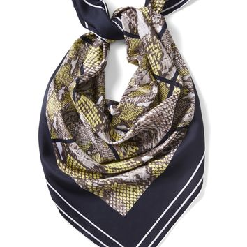 Snake Print Large Square Silk Scarf|banana-republic