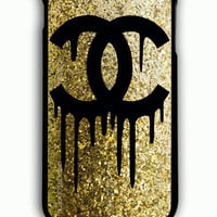 iPhone 6S Plus Case - Hard (PC) Cover with choco chanel hitam Plastic Case Design