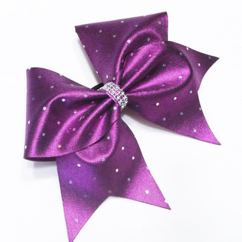 Cheer bow, Fushia cheer bow, sliver sequin cheer bow, cheerbow, cheerleading bow, softball bow, dance bow, pop warner cheer bow, big bow