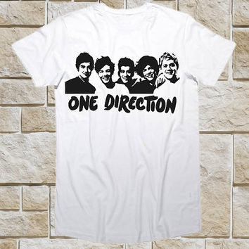Ladies 1D Silhouette One Direction Tour Funny Shirt for t shirt Mens and t shirt Girl