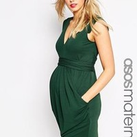 ASOS Maternity | ASOS Maternity Crepe Dress With Obi Wrap Belt at ASOS
