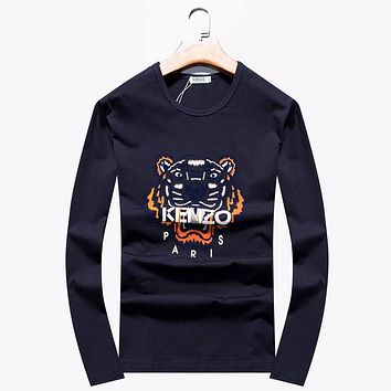 Kenzo Women or Men Fashion Casual Pattern Embroidery Top Sweater