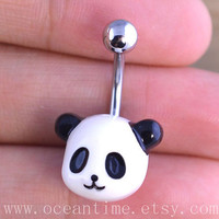 Panda Belly Button Rings,panda Navel Jewlery,lucky belly ring,panda,summer jewelry,bestfriend gift