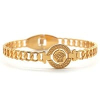 VERSACE Womens Stylish Personality Stainless Steel Golden Bracelet