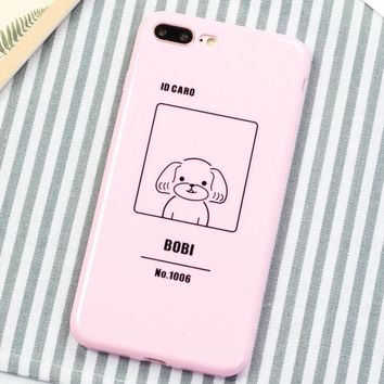 Cute Dog Pattern Case for iPhone X 8 7 6S Plus &Gift Box