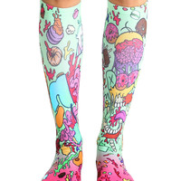 Donut Make Me Crazy Knee High Socks