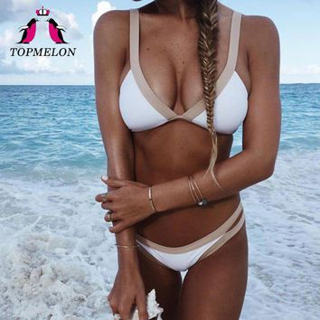 TOPMELON Bikini 2017 Swimsuit Women Micro Bikini Push Up Bathing Suit Maillot Beachwear Brazilian Triangle Swimwear Sexy Biquini