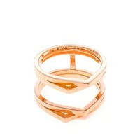 REPOSSI | Angular 18k Rose Gold Ring | brownsfashion.com | The Finest Edit of Luxury Fashion | Clothes, Shoes, Bags and Accessories for Men & Women