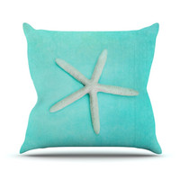 "Sylvia Cook ""Starfish"" Outdoor Throw Pillow"