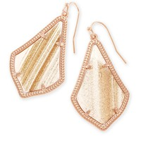 Alex Rose Gold Drop Earrings in Gold Dust | Kendra Scott