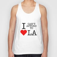 Can't afford to love LA Unisex Tank Top by RexLambo