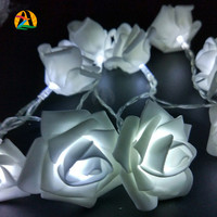 Rose LED String Lights Battery Wedding Birthday Decoration Lightings Rose Events and Parties 2M 20LED LED Guirlande Lumineuse